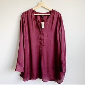Talbots New Blouse Long Sleeve Top Size 3X Petite
